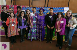 Committee members pose for a photo at the 2020 International Women's Day Celebration.