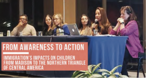 Panelists discuss immigration's impacts on children and families at a November 2019 event on Immigration Awareness.