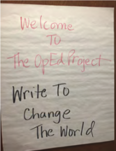"""To increase public scholarship and highlight historically underrepresented voices in public media, 4W partnered with University Communications to bring the Op Ed Project to UW-Madison for a """"Write to Change the World"""" workshop. Together we grew in our confidence to share our voices and ideas, and learned how to write timely, impactful opinion editorials."""