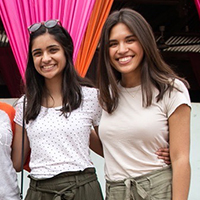 4W Interns Samantha Lettenberger and Anusha Naik (right and below) received a 2020 Wisconsin Without Borders Award for reproductive health work in Ghana.