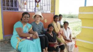 Photo of 2017 intern Krystal Du in India.