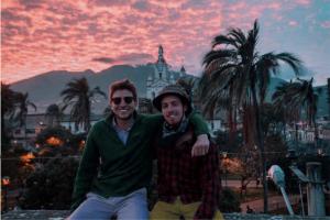 2019 interns Patrick Rath and Jake Streeck in Ecuador.
