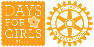 days for girls orange logo with flowers and rotary international wheel logo