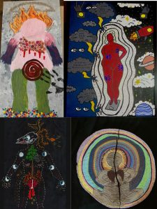 Body Maps made by UW-Madison students and curated by artist and Professor Kate Phelps.