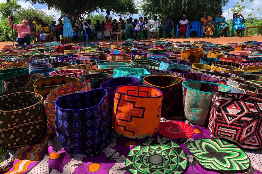 Buckets made by global artisans from the Global Artisans Initiative