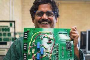 Mahila Microgrids Partnership Leader Giri Venkataramanan and his microgram.