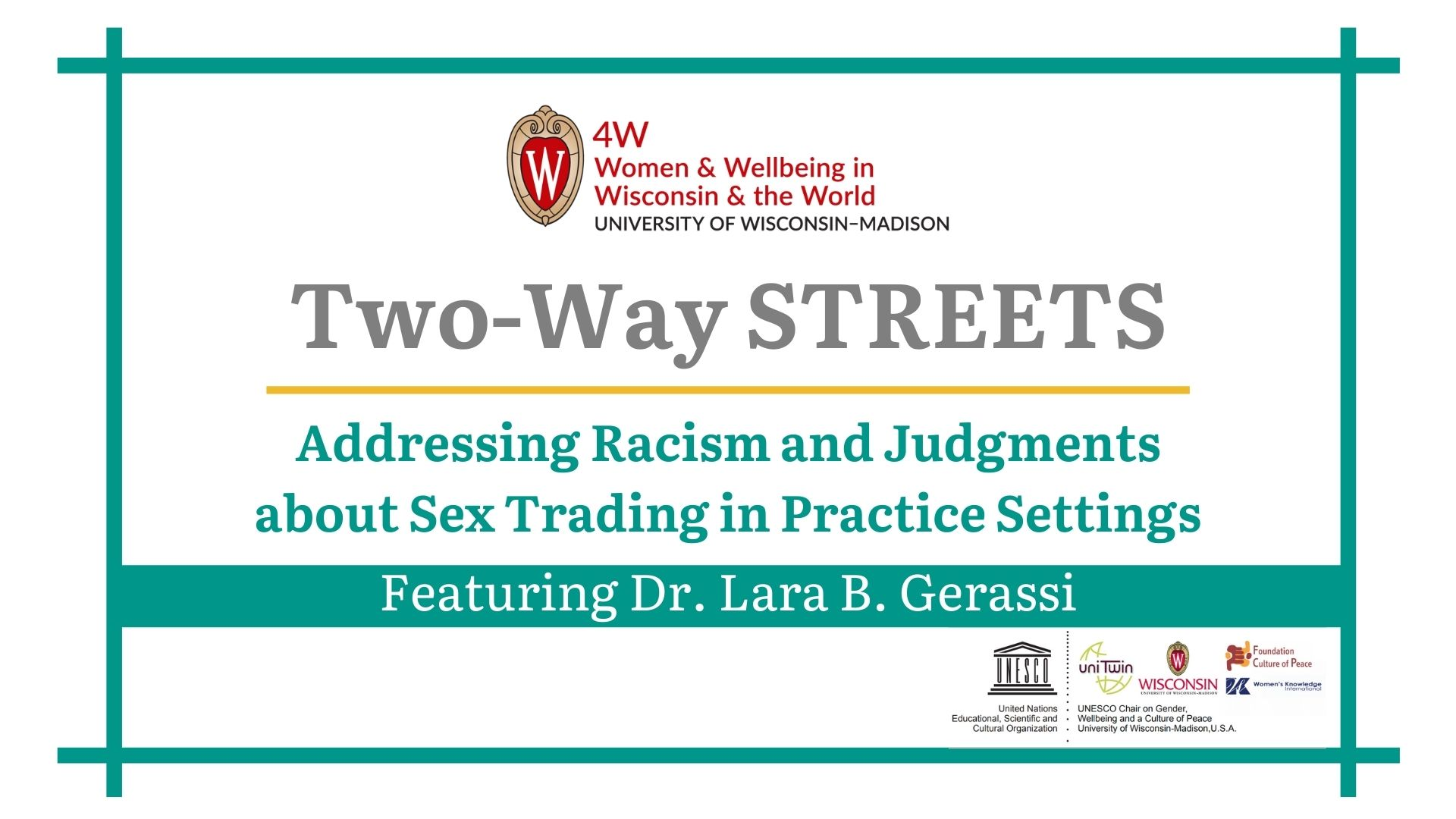Two-Way STREETS webinar promotional image.